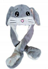 Шапка Кролик с двигающимися ушами и подсветкой