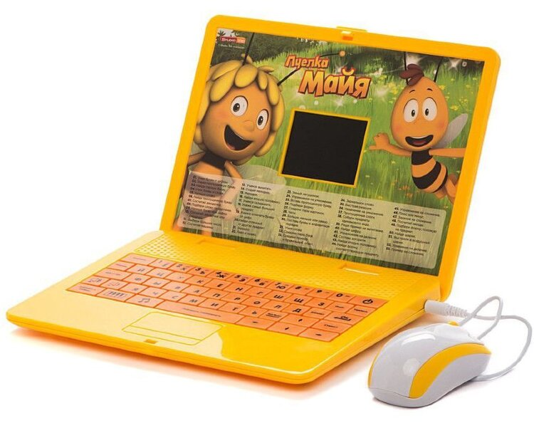 Детский обучающий Компьютер Затейники Пчелка Майя (Ноутбук)