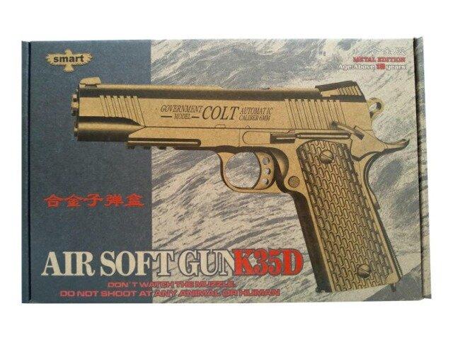 Металлический пистолет для страйкбола AIR SOFT GUN K35D
