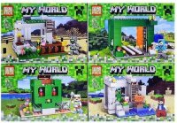 """Набор из 4-х конструкторов Майнкрафт """"Шахта"""" 480 дет.   My World 63012"""