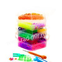 """Трехэтажный набор для плетения браслетов из резиночек Band """"Призма"""""""