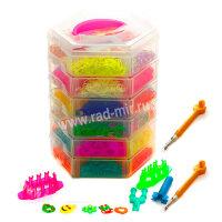 Шестиэтажный набор для плетения браслетов из резинок