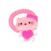 Резинка-пружинка для волос (розовая)