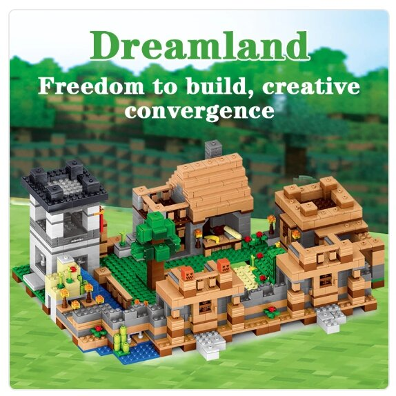 Конструктор Qunlong Minecraft арт. QL0512 «Защита деревни» 1221 дет.