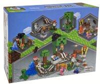 Конструктор My World Minecraft Железная дорога Крипера 4в1 649 дет 63061
