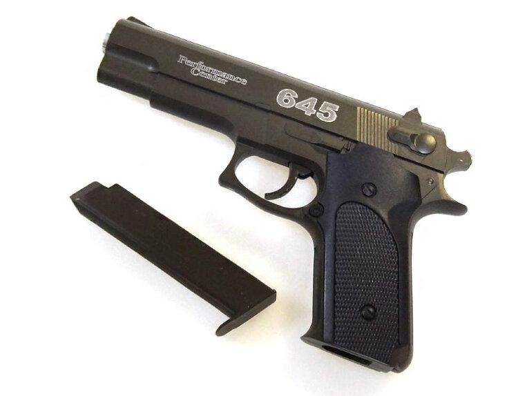 Металлический пистолет для страйкбола AIR SOFT GUN K6D