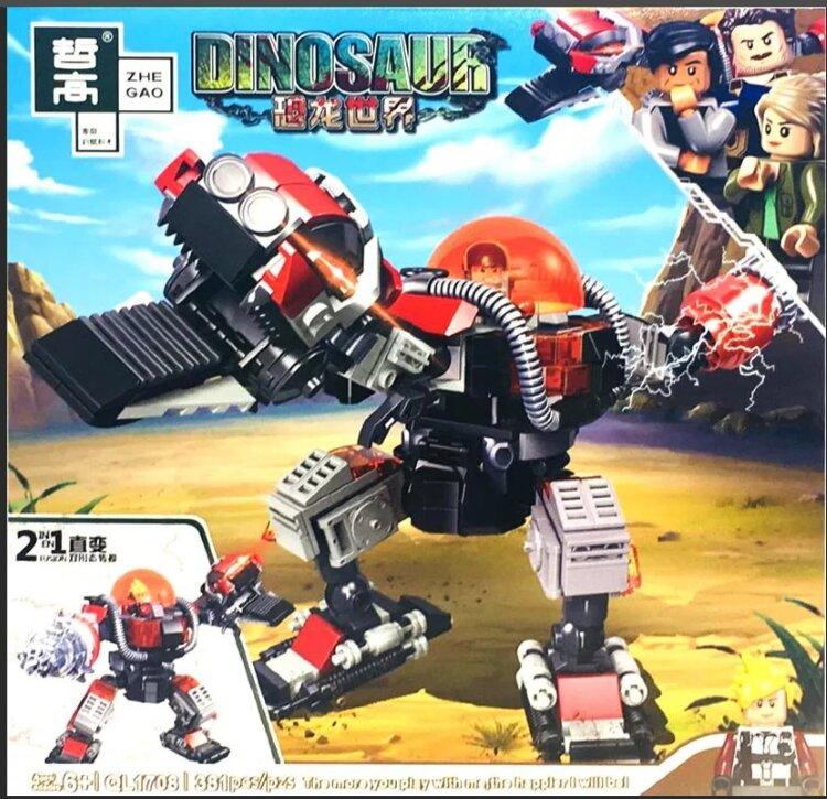 Конструктор ZHEGAO Dinosaur Ql1708 Робот динозавр 2в1 381 дет QL1708