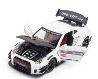 Масштабная модель автомобиля Nissan GT-R 1:24 Белая