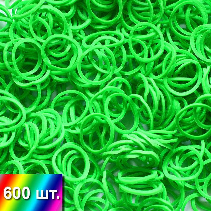 Зеленые резиночки для плетения браслетов