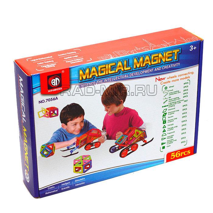 Магнитный конструктор 56 деталей Xinbida Magical Magnet 7056A-56