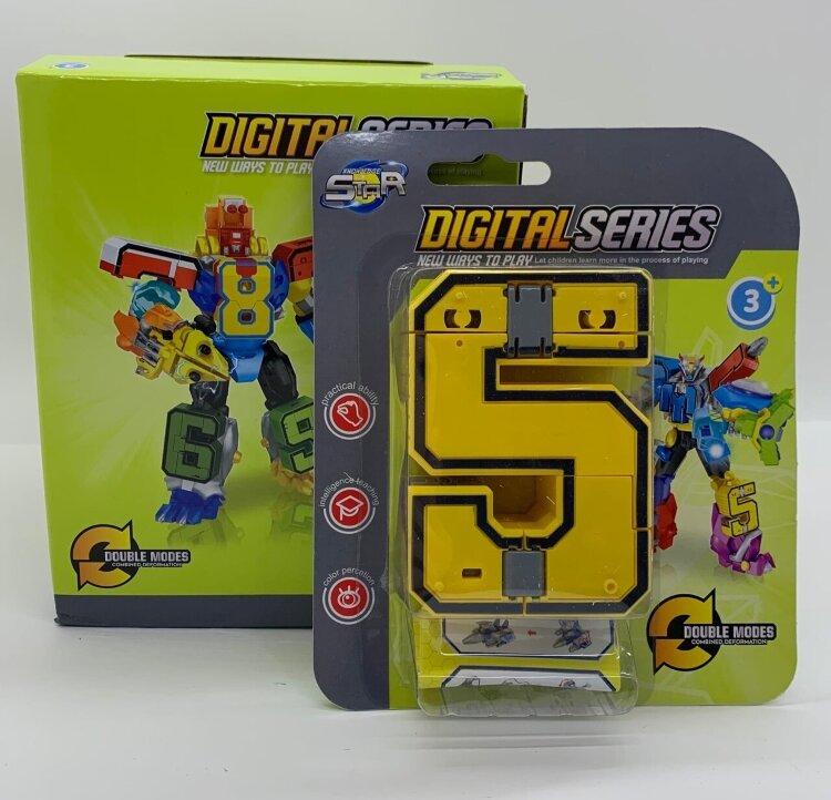 Цифры-трансформеры  в двух коробках от 0 до 10 Digital Series