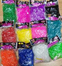 Набор однотонных резиночек для плетения 12 цветов  (с белыми и черными)