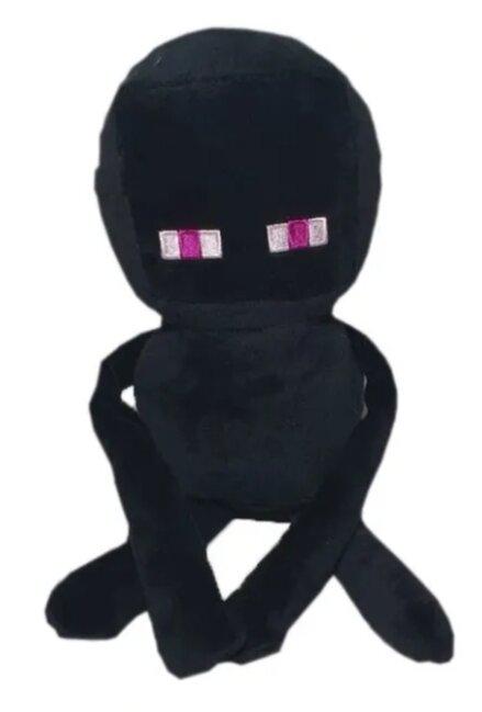 Мягкий плюшевый Эндермен из Майнкрафт 28 см на присоске
