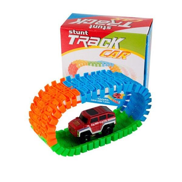 Дополнительная машинка Stunt Track car + 56 деталей