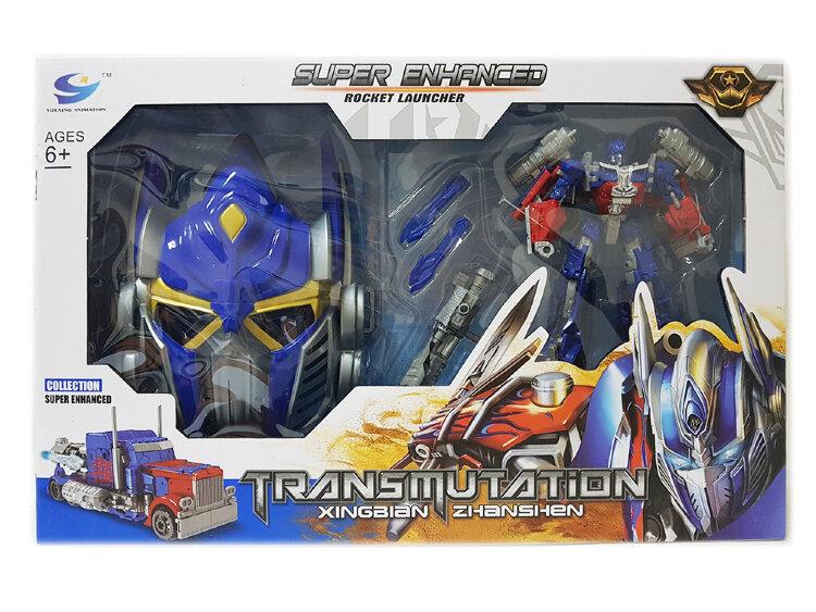 Трансформер Оптимус прайм 18 см + Маска Transmutation Optimus Prime