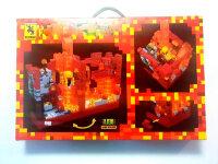 Конструктор майнкрафт Подземная крепость с подсветкой 856 дет. Renzaima 680