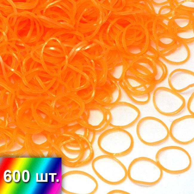 Оранжевые полупрозрачные резиночки для плетения браслетов