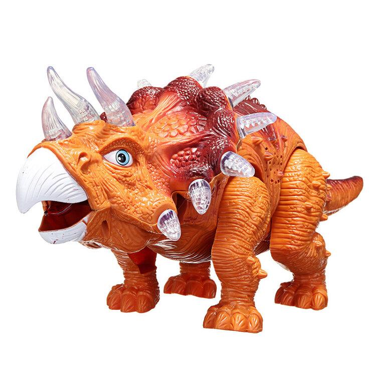 Игрушечный динозавр Трицератопс со светом и звуком
