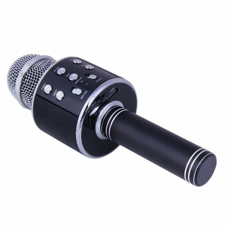 Bluetooth Караоке Микрофон WSTER WS-858 с изменением голоса Gold / Rose / Silver / Black