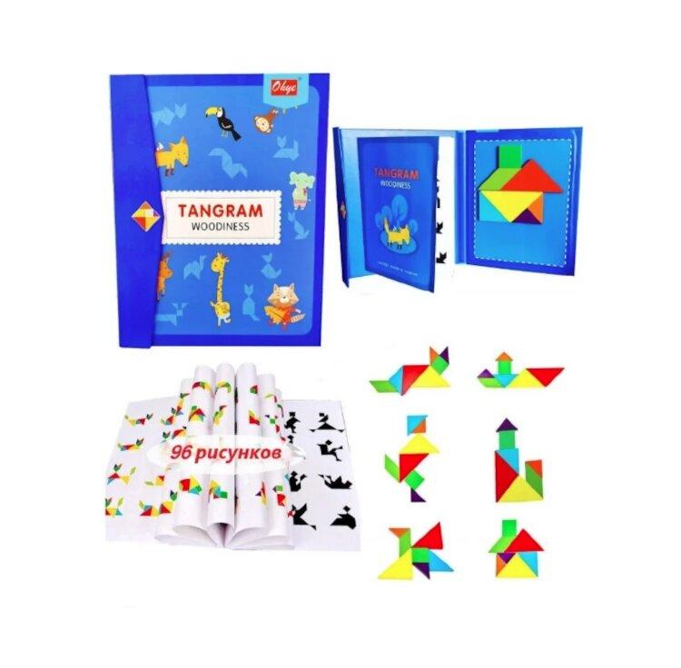 Логическая магнитная игра-головоломка Танграм/Tangram