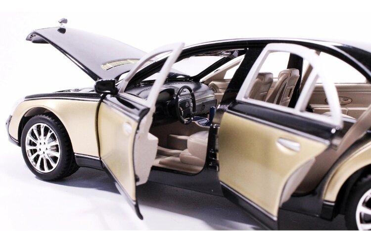 Машинка металлическая инерционная Мерседес-бенц Майбах  Maybach 62S 1:24 золотистый
