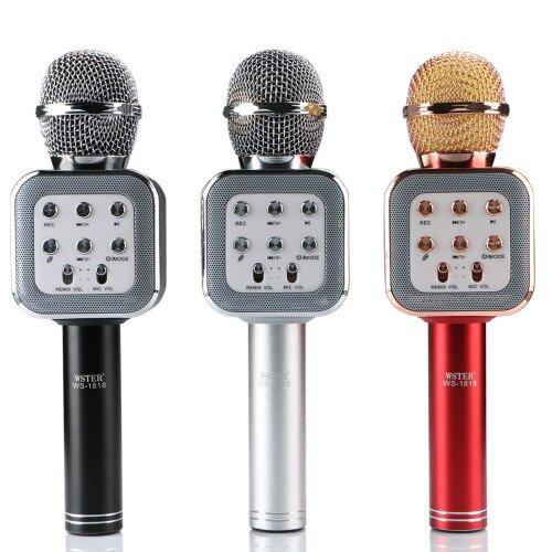 Bluetooth Караоке Микрофон WSTER WS-1818 Gold