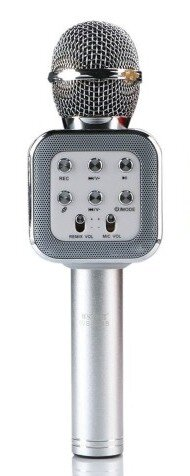 Bluetooth Караоке Микрофон WSTER WS-1818 Silver
