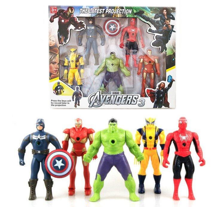 Фигурки супергероев Марвел 5 в 1 (с Человеком пауком)