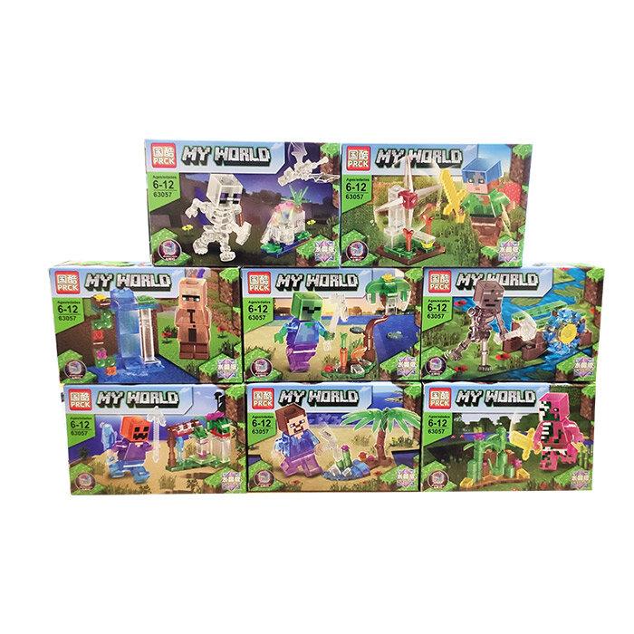 Набор из 8 конструкторов  Майнкрафт «Восемь героев на ферме» My World 63057