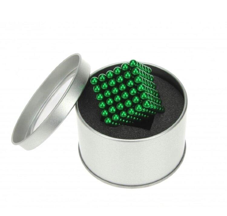 Неокуб Neocube куб из 216 магнитных шариков 5мм (зеленый)