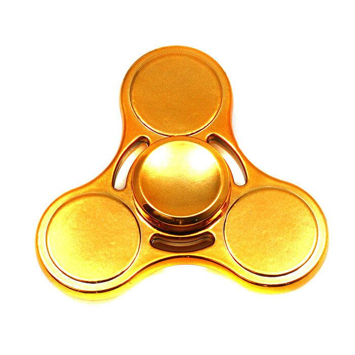 Спиннер золотой металлик три лопасти
