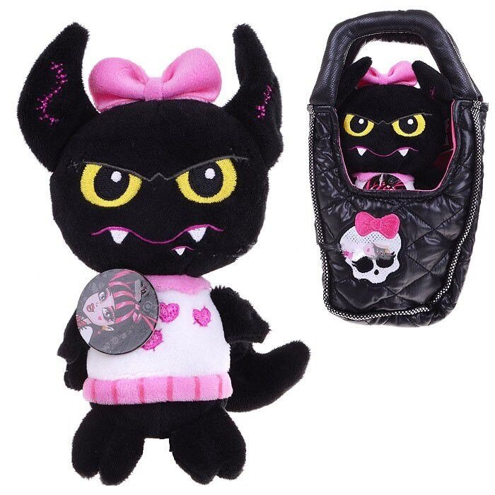 """Плюшевая игрушка Monster High Летучая мышь """"Граф Великолепный"""" в сумочке"""
