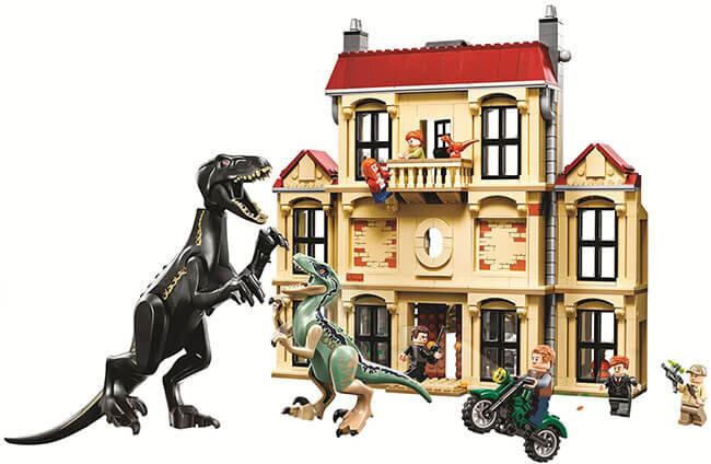 """Конструктор Dinosaur World """"Нападение индораптора в поместье Локвуд"""" 1051 дет. 39118"""