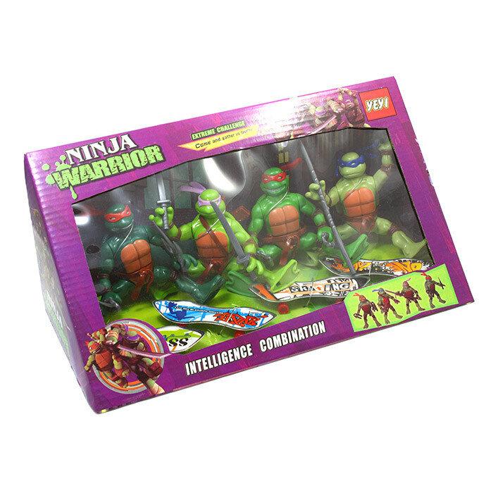 Игровой набор Черепашки ниндзя (Рафаэль, Донателло, Леонардо, Микеланджело)