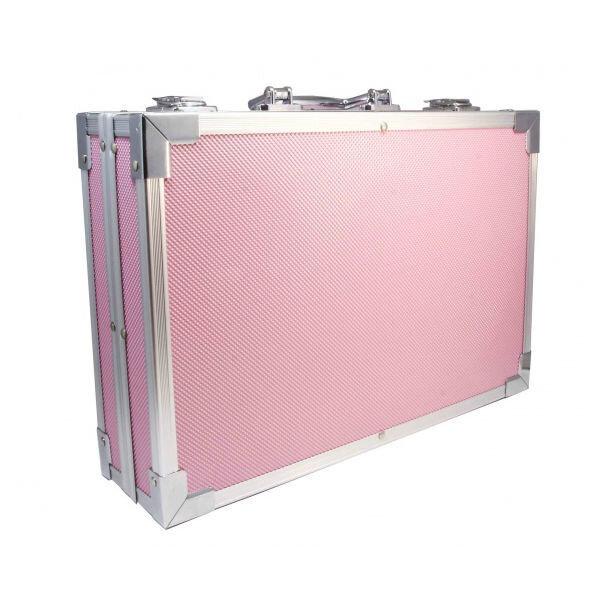 Набор для детского творчества 145 предметов в чемодане (розовый)