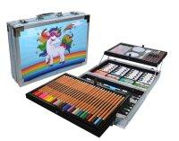 Набор Юного художника для детского творчества из 145 предметов в кейсе Единорог
