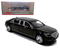 Машинка металлическая инерционная Мерседес-бенц Майбах Mercedes-benz Maybach 1:24 (черный)