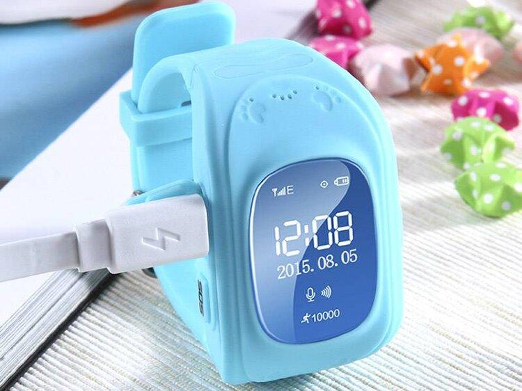 Детские умные часы Baby Watch Q50 Розовые (с датчиком снятия)