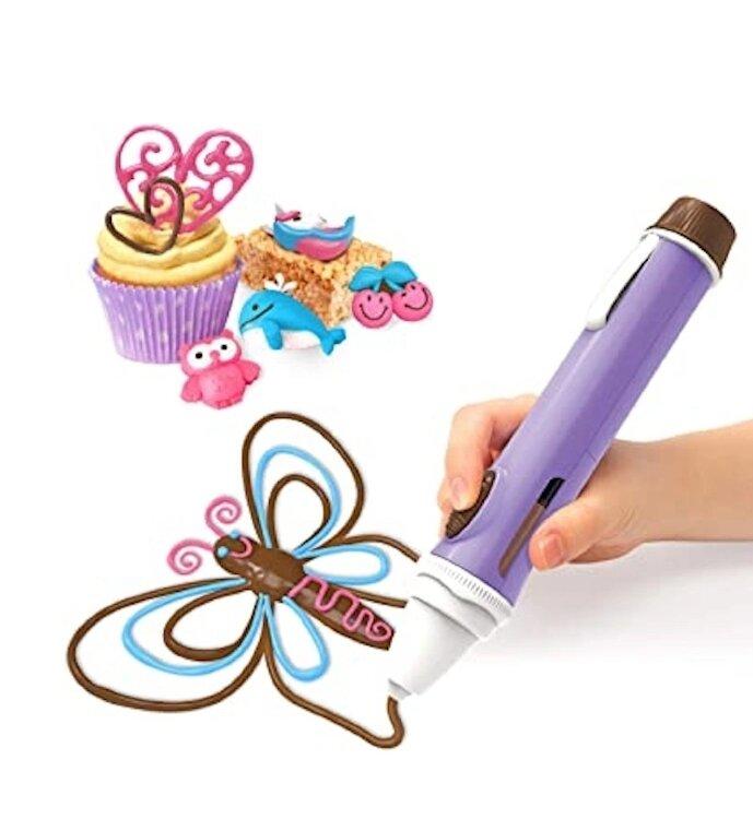 Набор для декорирования Шоколадная ручка. Глазурь и новые формочки в комплекте.