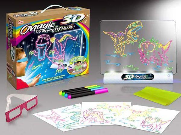Доска для рисования с подсветкой и 3D эффектом (Динозавр)
