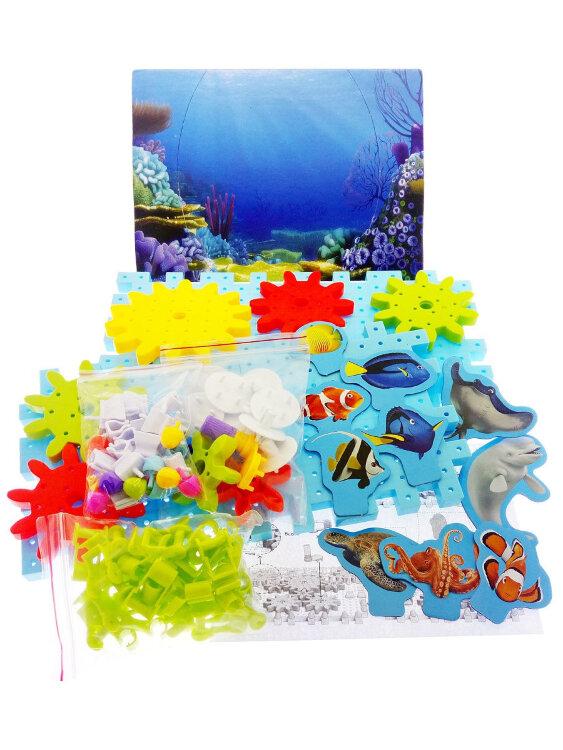 Развивающий конструктор шестеренки Подводный мир