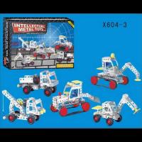 """Металлический конструктор """"Строительная техника"""" 226 деталей 604-3"""