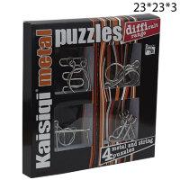 Набор из 4 металлических головоломок