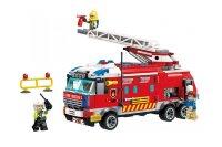 Конструктор Пожарная машина QMAN 2807 (Enlighten Brick) 366 дет.