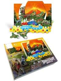 Развивающий конструктор шестеренки Мир динозавров