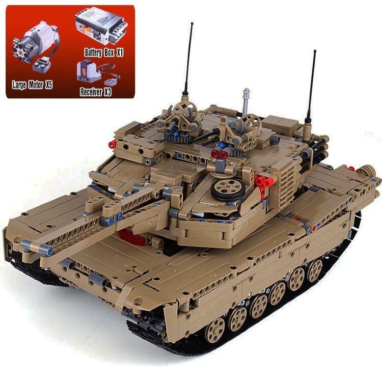 Конструктоор 2в1 Военный танк на р/у   20070 1572 дет.