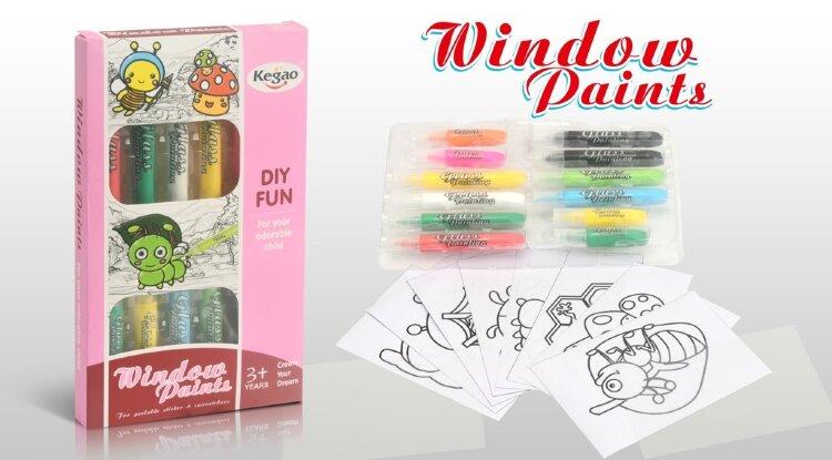 Набор для создания витражей Window Paint Насекомые