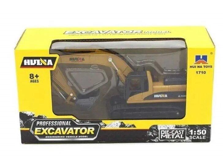 Экскаватор гусеничный масштаб 1:50 Hui Na Toys1710