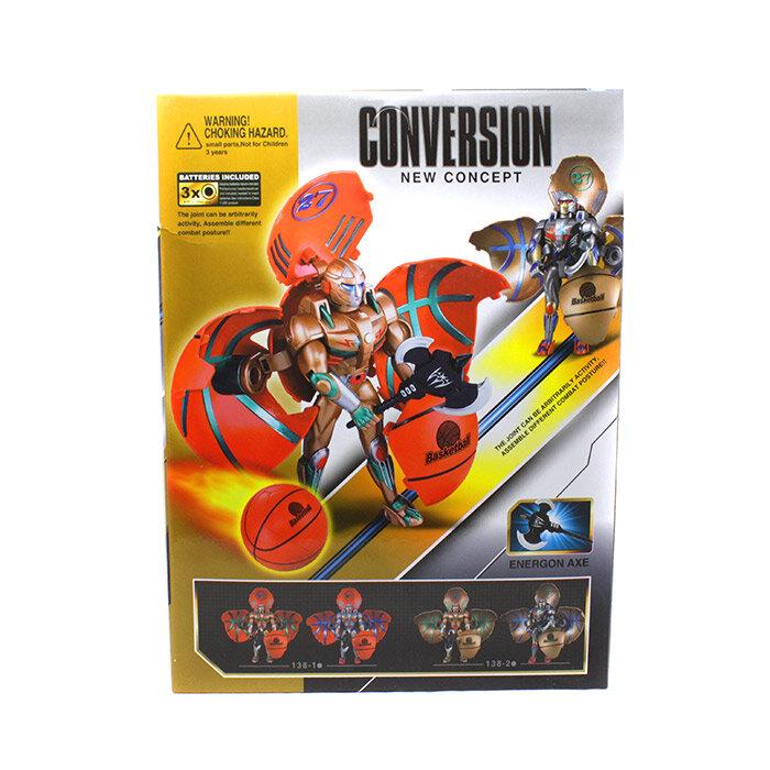 Игрушка трансформер робот-мяч с оружием