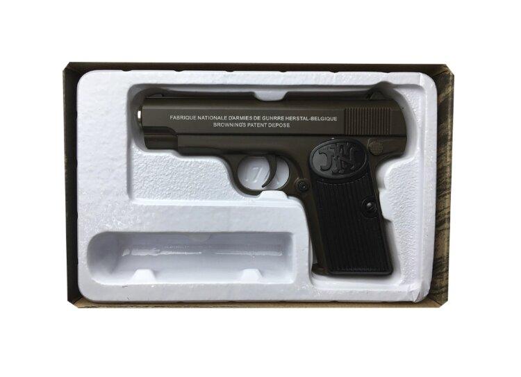 Пистолет металлический игрушечный  Air Soft Gun K17D Browning